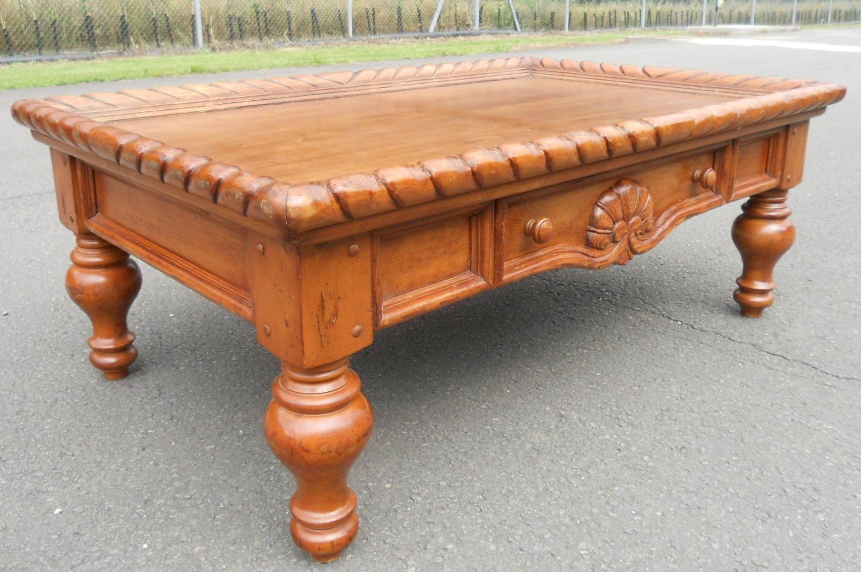 Walnut Victorian Style Coffee Table